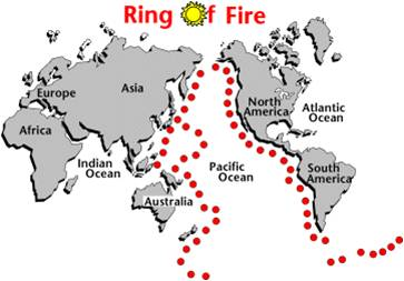 Map of the ring of fire us