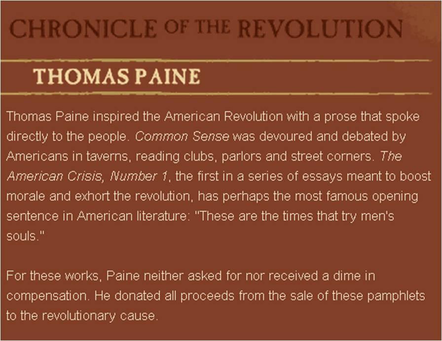 thomas paine the american crisis analysis essay