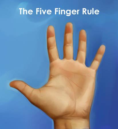 five-finger-rule