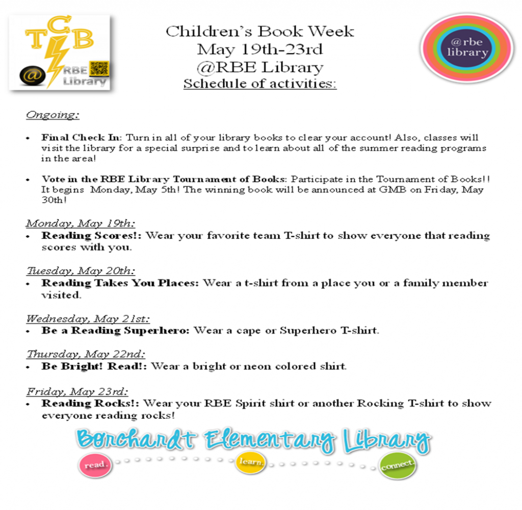 Children's Book Week Announcement 2014