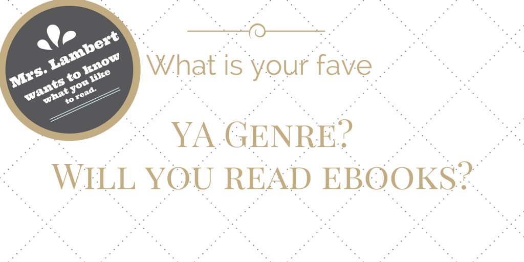 Blog Post Fave Genre & Ebooks