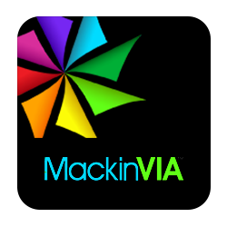 MackinVia logo on a black square