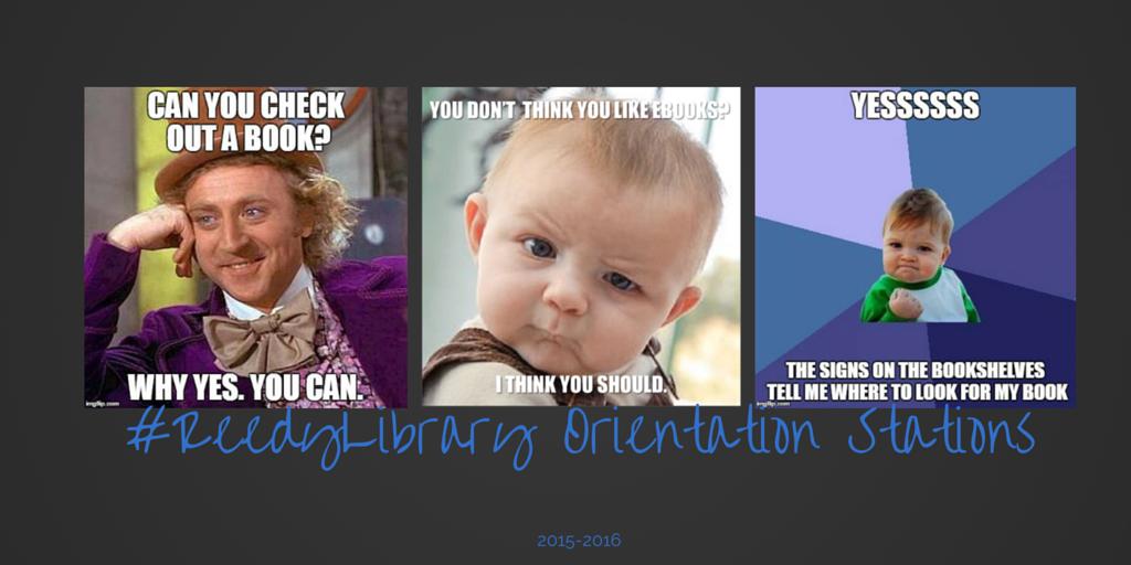 #ReedyLibrary Orientation Stations Blog Image