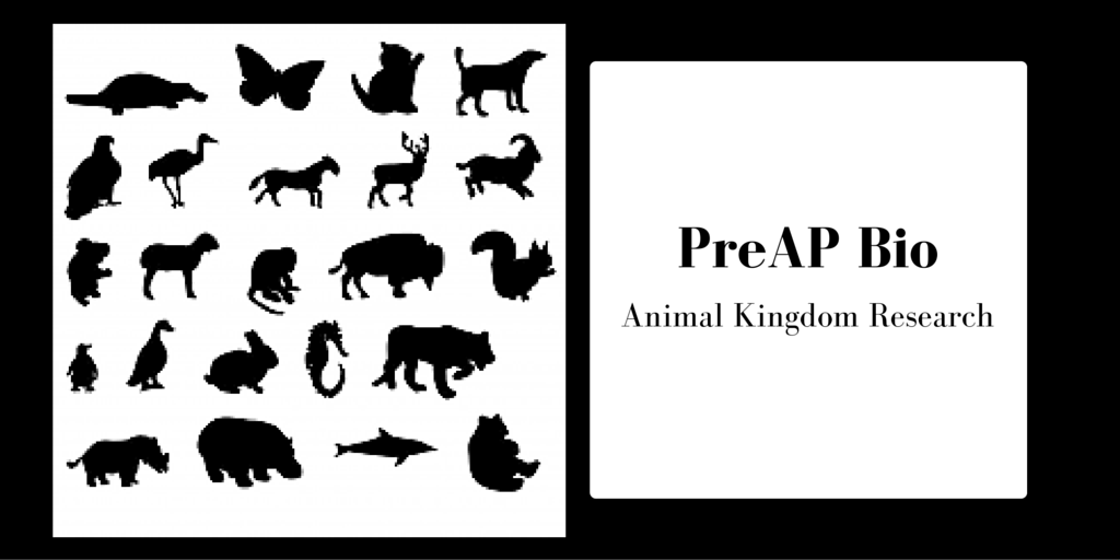 PreAP Bio Animal Kingdom Blog Post Banner