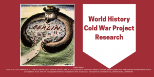 World History Cold War Project Banner
