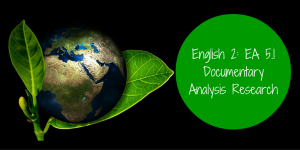English 2 EA 5.1 Documentary Analysis Research Banner