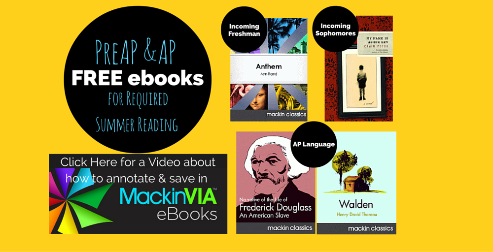 PreAP & AP Required Summer Reading Banner Yellow