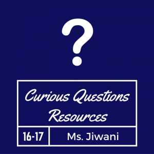 Curious Questions Graphic Blue
