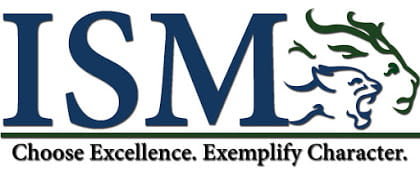 Image of the words ISM and the Reedy lion logo with a male lion and a female lion roaring with the words Choose Excellence. Exemplify Character under it.